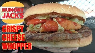 HUNGRY JACKS  CRISPY CHEESE WHOPPER REVIEW - Burger Kings New Burger