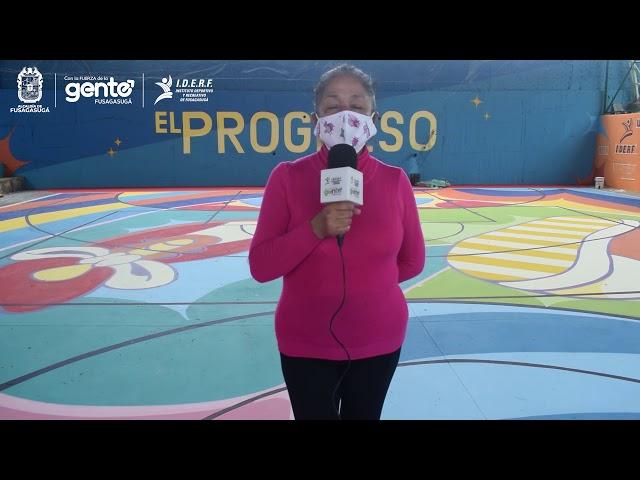 Asi va la remodelación del Polideportivo de el Barrio El Progreso