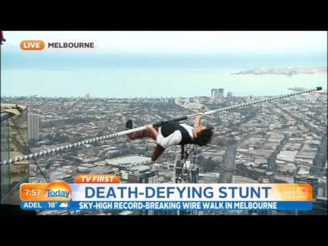 Eureka Tower tightrope walk Today show 2015