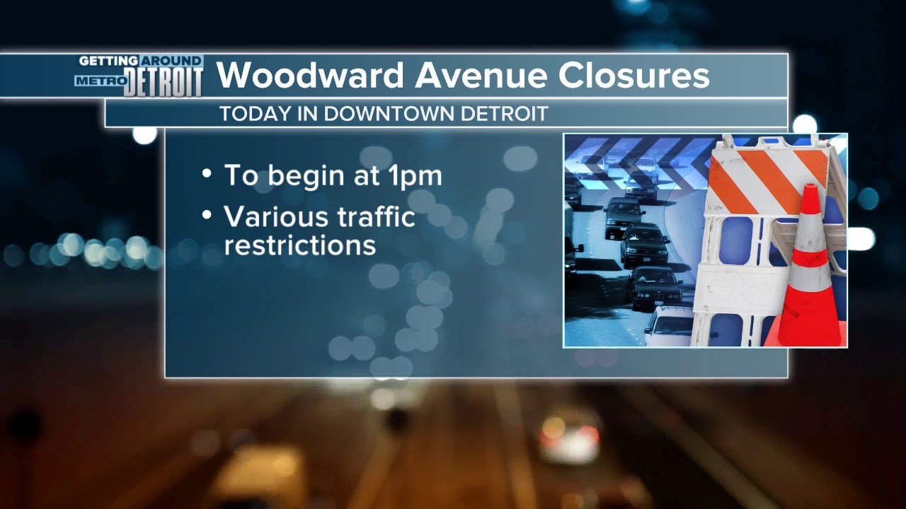 Street closures in Detroit for Turkey Trot, Thanksgiving Parade & Lions game