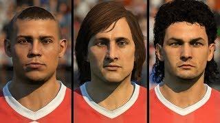 FIFA 19 ALL 74 ICON FACES (Ronaldo, Socrates, Cruyff, etc)