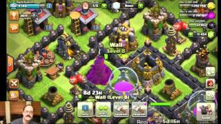 Twitch.tv live-streaming Clash of Clans
