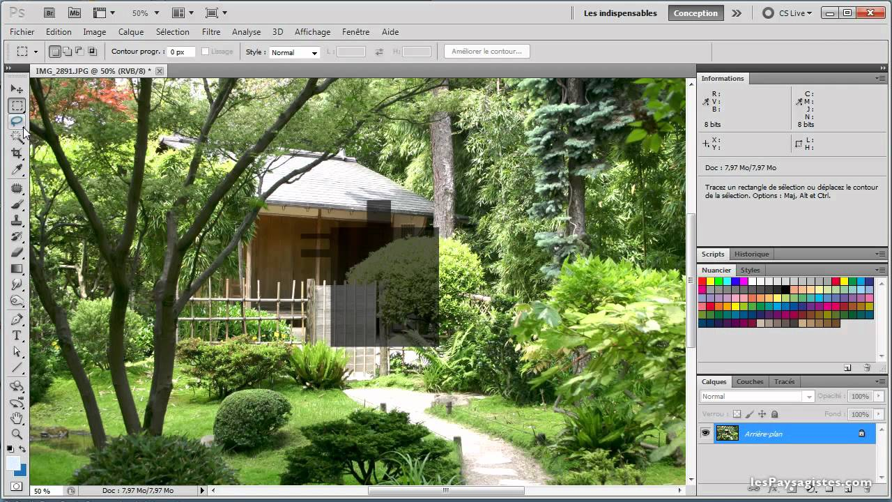 Tuto photoshop d butant youtube for Architecte jardin 3d gratuit