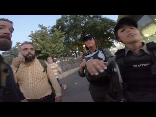 Kicked,  microphone destroyed, and Bible ripped and stolen in Israel