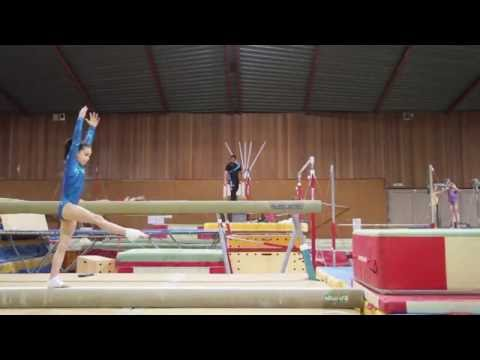 Gymnastics on Beam: Overview of the training on the round-off dismount - GymneoTV