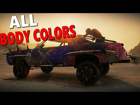 Mad Max Game: All Body Colors For The Magnum Opus