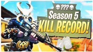 My Season 5 KILL RECORD! - PS4 Pro Fortnite Solo Season 5
