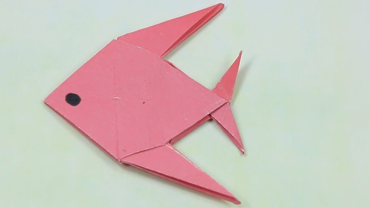 how to make a paper fish easy tutorialorigami paper folding craft