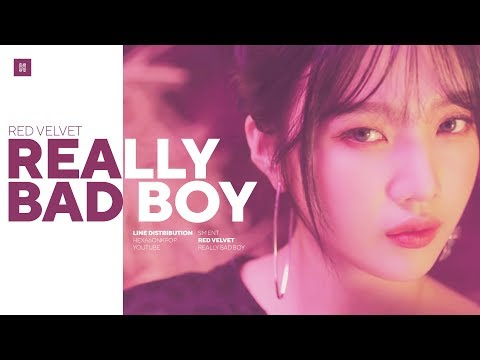 Red Velvet - Really Bad Boy (RBB) Line Distribution (Color Coded) | 레드벨벳
