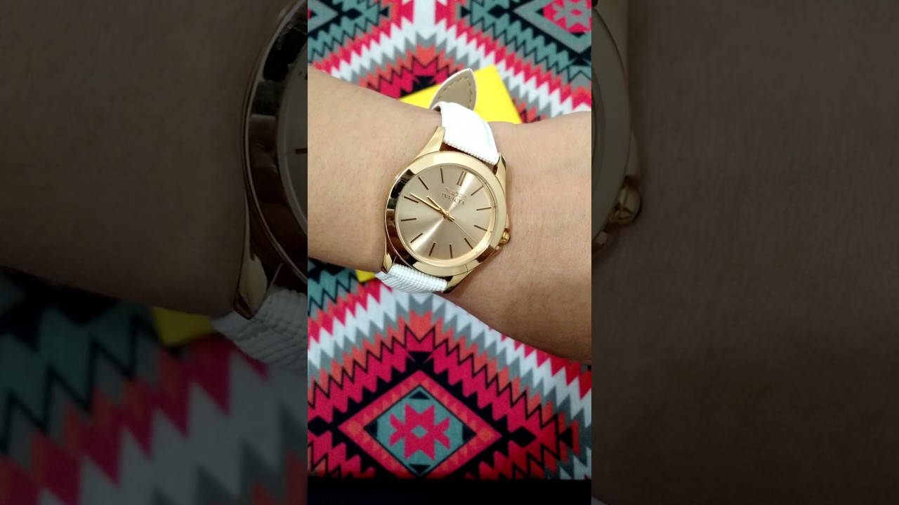 386bfbc72e1 Unboxing relógio Invicta Angel ouro 18k - YouTube