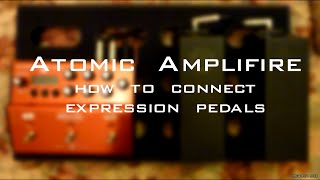 Atomic Amplifire - How to connect expression pedals