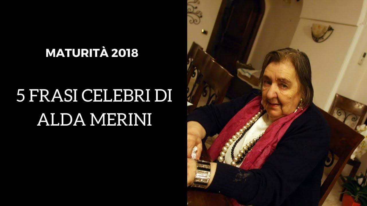 Maturita 2018 5 Frasi Celebri Di Alda Merini Youtube