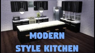Modern Style Kitchen   Speed Deco   The Sims 4