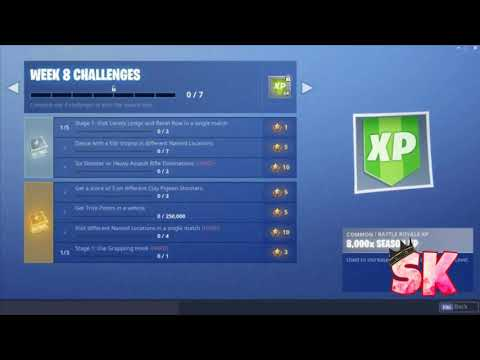 Fortnite - Season 6 Week 8 Challenges