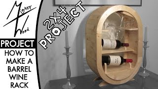 Barrel-Style Wine Rack - 2x4 Project