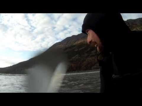 """Surfing a little Tsunami in Alaska, """"The Bore Tide"""", by Kepa Acero"""