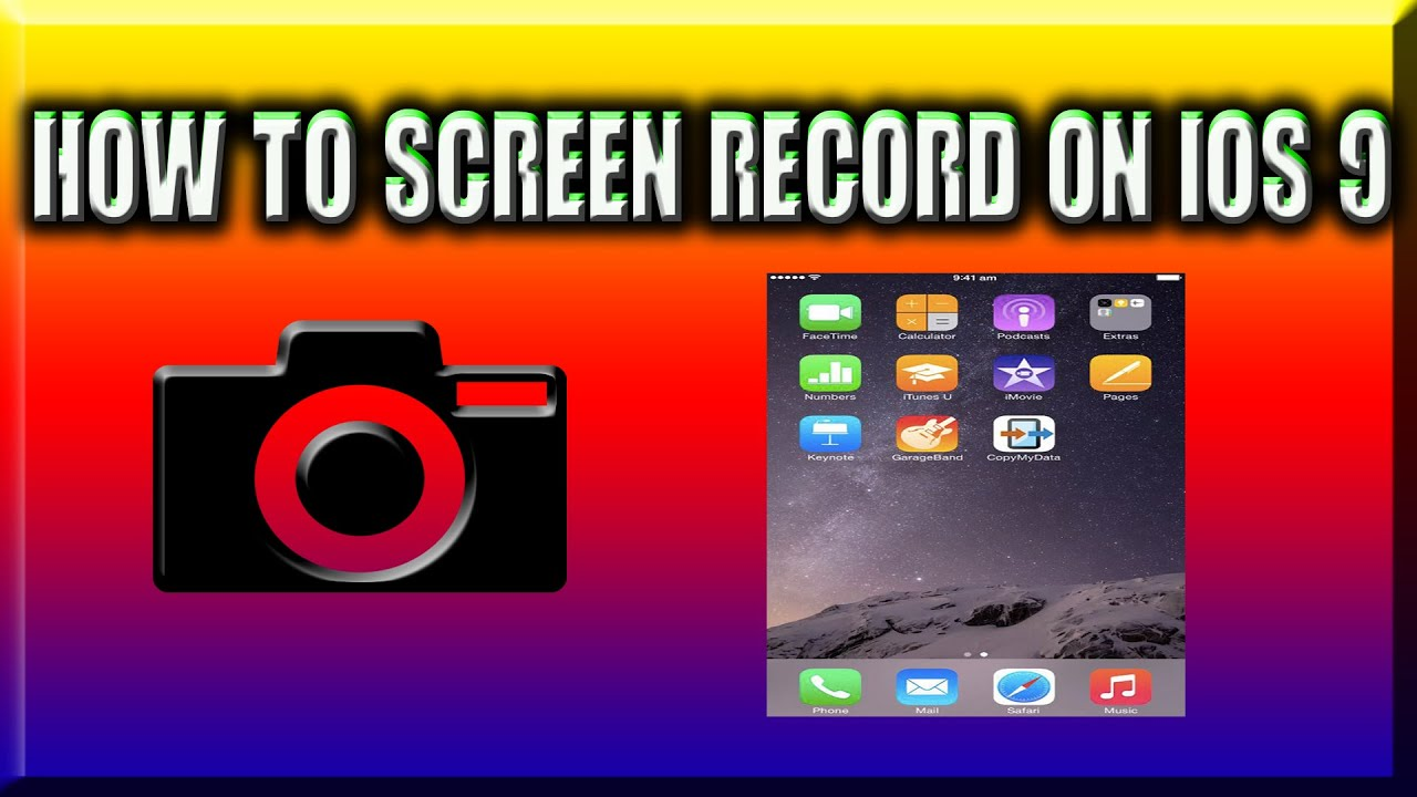 how to record your ios screen