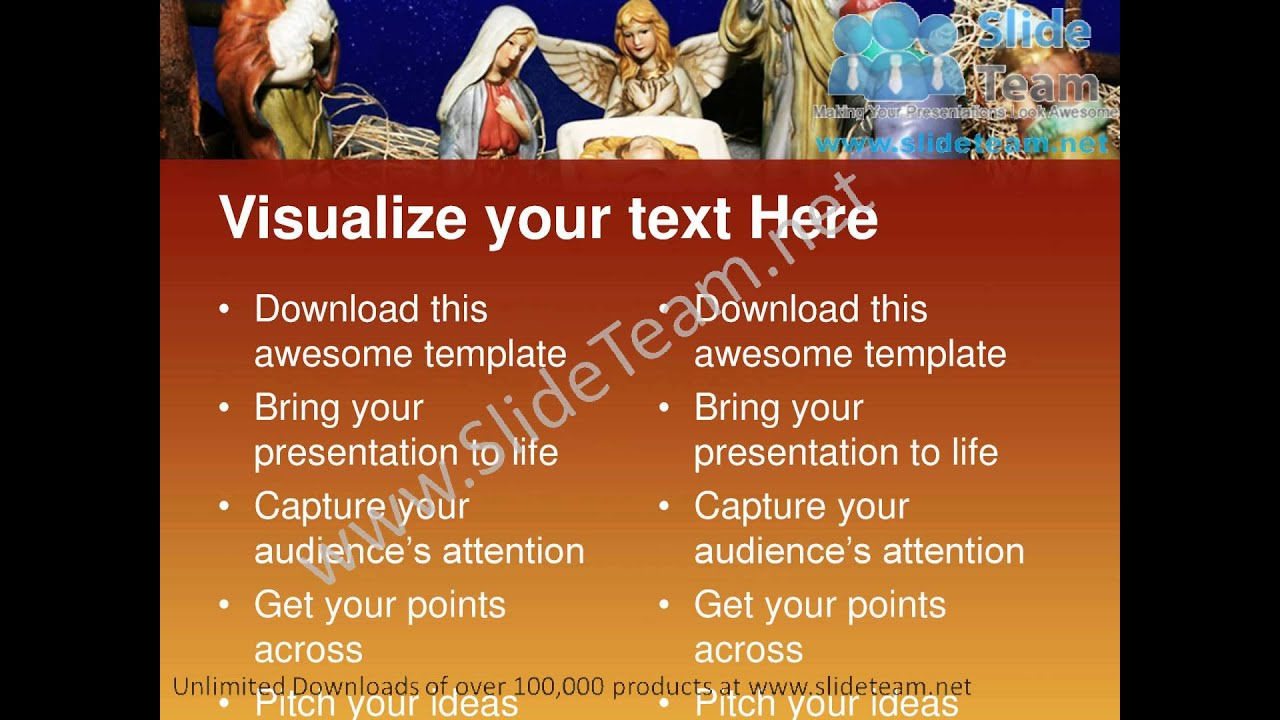 Nativity Scene Christian Powerpoint Templates Ppt Themes 0812 Slides  Backgrounds