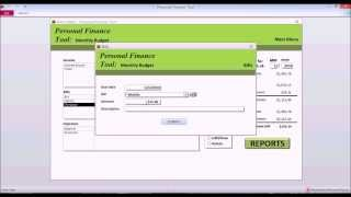 Personal Finance Tool V 2 Software Preview