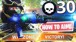 HOW TO HAVE PERFECT AIM in WARZONE! INSANE 30 KILL WARZONE NUKE!! (Modern Warfare Warzone)