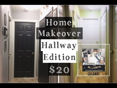 DIY Home Makeover : Hallway Edition...$20 | DIY Home Decor | Giveaway: DIY Starter Kit