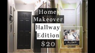 Diy Home Makeover : Hallway Edition $20 | Diy Home Decor | Giveaway: Diy Starter Kit