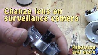 Lens-Change on surveillance camera