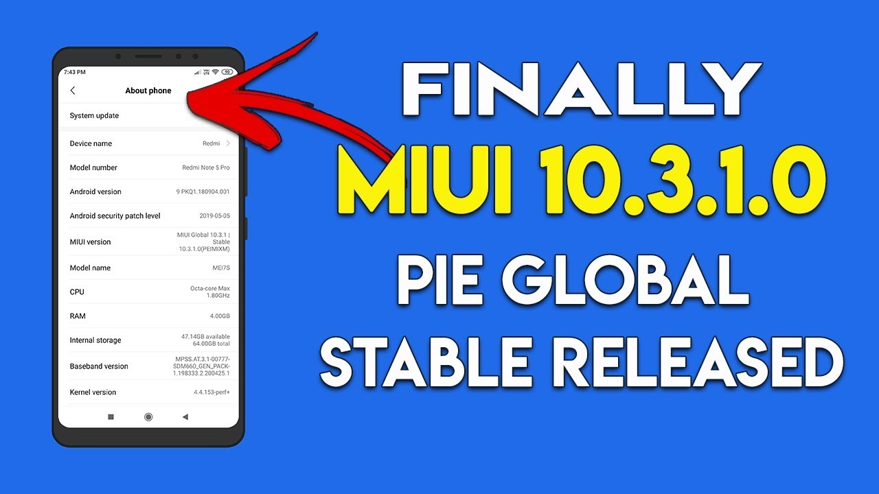328a4957a4ebcd Download MIUI 10 Android 9 Pie On Redmi Note 5 Pro [MIUI 10.3.1.0 ]