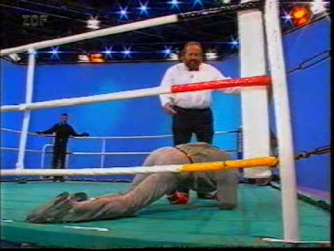 Terence Hill vs. Henry Maske vs. Bud Spencer, boxen live bei Wetten Dass..? 1994 in Bremerhaven