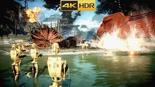 4K - HDR STAR WARS BATTLEFRONT II GAMEPLAY MAX GRAPHICS PC