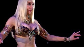 Belly Dance How to: Chest Slide & Lift Moves - Belly Dancing - with Neon