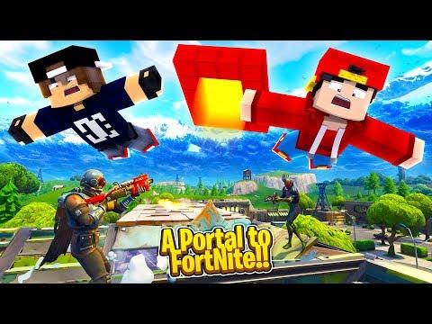 Minecraft Adventure -  A PORTAL TO THE FORTNITE WORLD!!