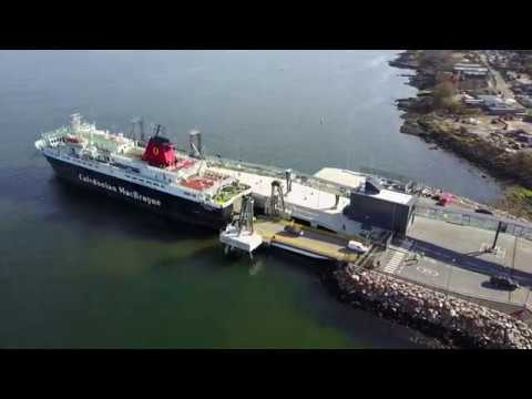 First Use of Arran's New Ferry Terminal