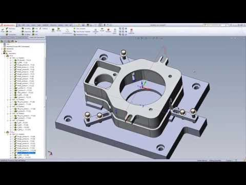 SolidCAM University: 2.5D  - Machine fixture with 2 Holding Fixtures