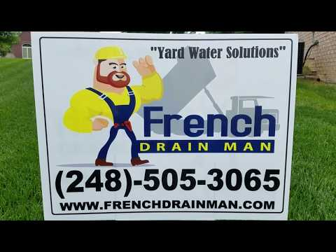 How to bury downspouts, YARD Drainage Contractor - The French Drain Man