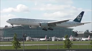 Close Up RWY09L Arrivals at London Heathrow Airport | 18/04/14