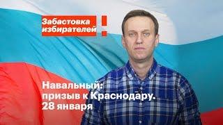 Краснодар: акция в поддержку забастовки избирателей 28 января в 18:00