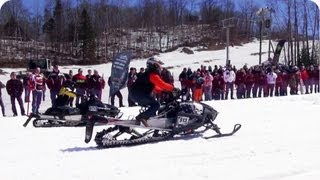 Snowmobile Race | Off To A Bad Start