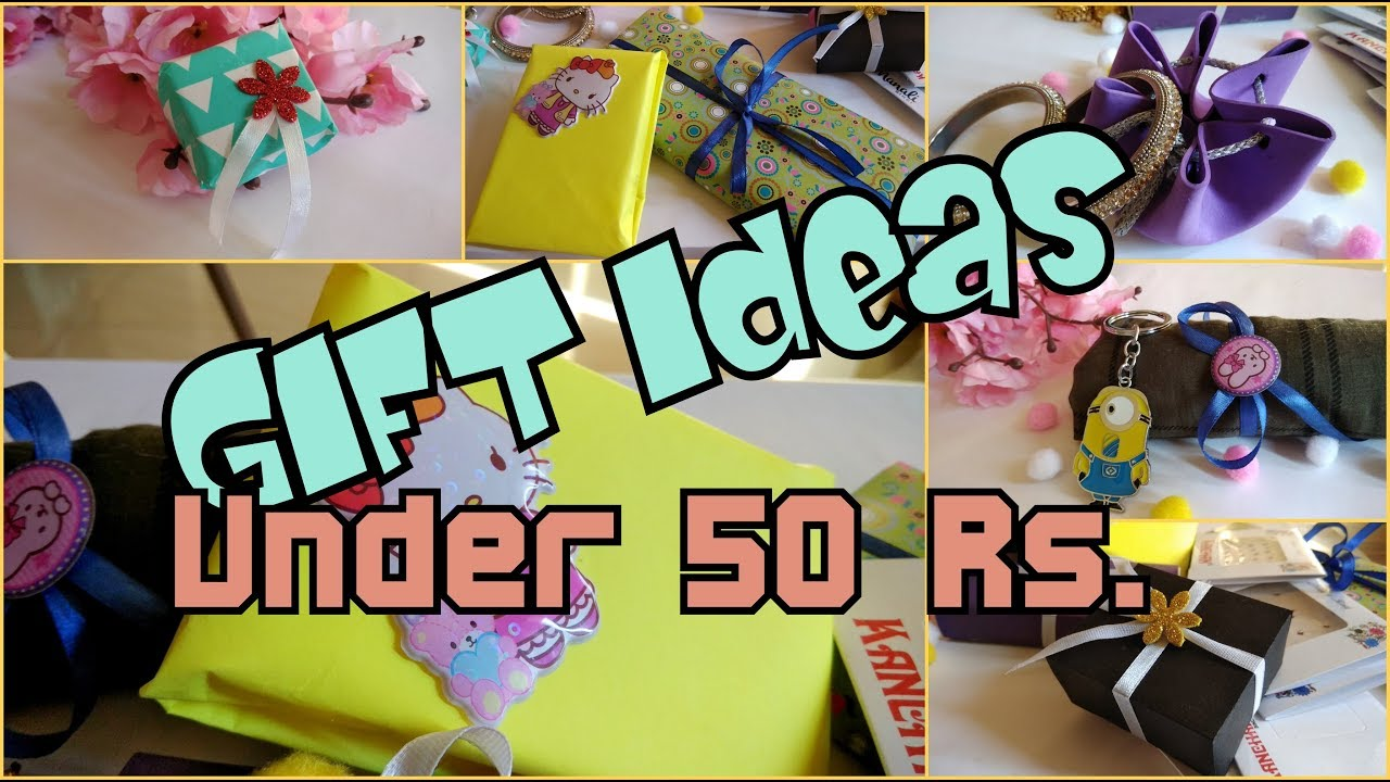 10 Gift Ideas Under 50 Rs Gift Guide Giftsonabudget