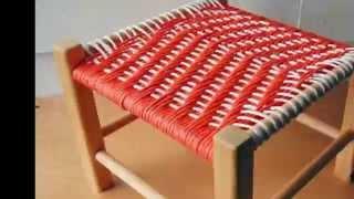 Плетеные стулья своими руками. Плетеный табурет. Как Сделать ? Как Изготовить ?
