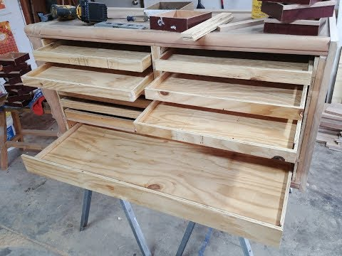 Drawer bottoms for tool chest