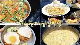 [호주일상] 며칠간의 집밥/오징어젓갈 볶음밥/ 치킨까스…