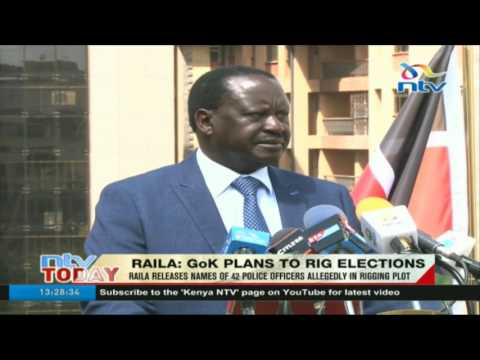 Raila releases names of 42 police officers allegedly in rigging plot