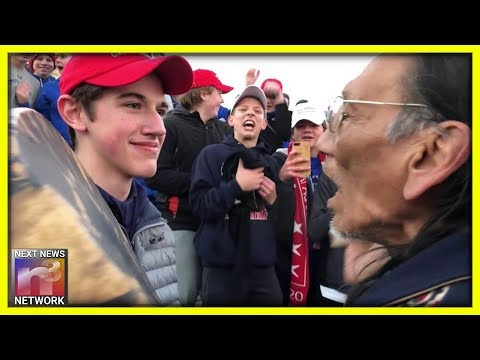 Nathan Phillips Cowardly Pushes Camera Away & Runs From Reporters