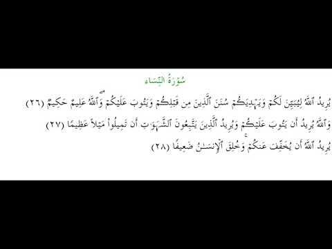 SURAH AN-NISA #AYAT 26-28: 30th January 2020