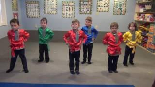 Русский танец в детском саду