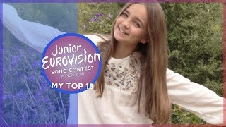 Junior Eurovision 2018 | My Top 15 [so far] 🇫🇷