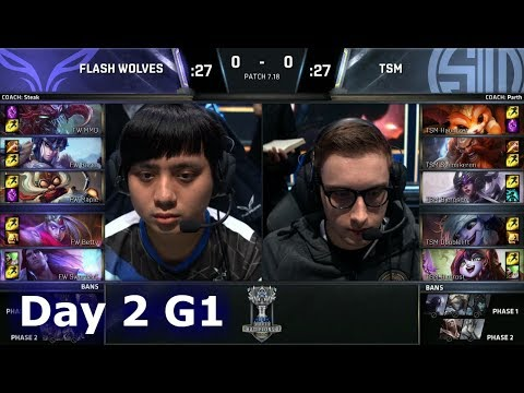 Flash Wolves vs TSM | Day 2 Main Group Stage S7 LoL Worlds 2