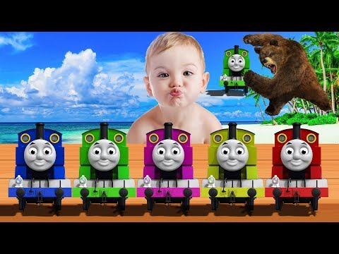 Masha and The Bear steals Thomas and Friends - Bad Baby Crying To Learn Colors for Children