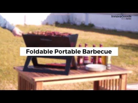 InnovaGoods Home Garden Foldable Portable Barbecue